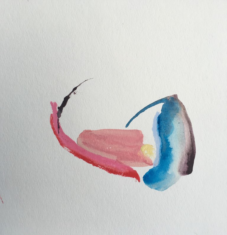 Whip, 2016, acrylic on paper, 9x9%22